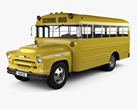 3D model of Chevrolet 4500 School Bus 1956