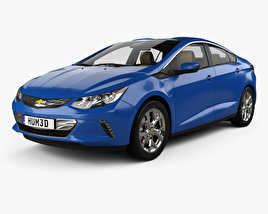 3D model of Chevrolet Volt with HQ interior 2015
