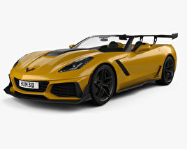 3D model of Chevrolet Corvette (C7) convertible ZR1 2017