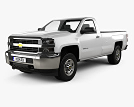 3D model of Chevrolet Silverado 2500HD Regular Cab Long Box WT 2017