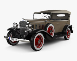 3D model of Chevrolet Confederate 4-door Phaeton 1932