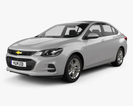 3D model of Chevrolet Cavalier LT 2016