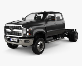 3D model of Chevrolet Silverado 4500HD Crew Cab Chassis 2018