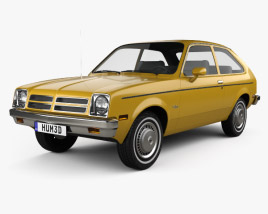 3D model of Chevrolet Chevette coupe 1976