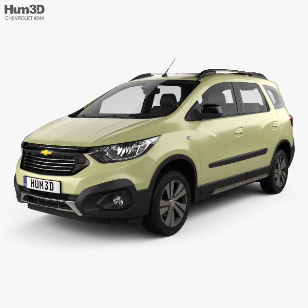 3D model of Chevrolet Spin Active 2018
