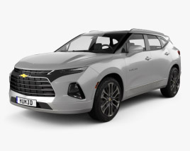3D model of Chevrolet Blazer Premier 2019