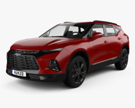 3D model of Chevrolet Blazer RS 2019