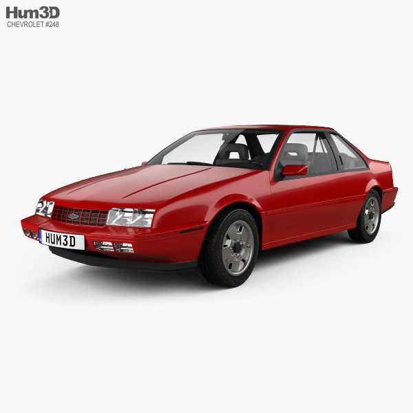 Chevrolet Beretta GT with HQ interior 1988 3D model