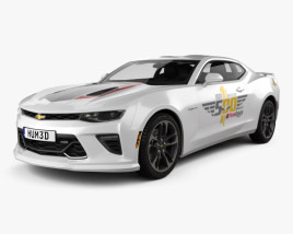 3D model of Chevrolet Camaro SS Indy 500 Pace Car with HQ interior 2016