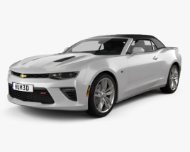 3D model of Chevrolet Camaro SS convertible with HQ interior 2016
