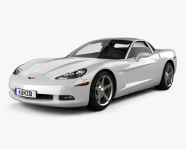 3D model of Chevrolet Corvette coupe with HQ interior 2011
