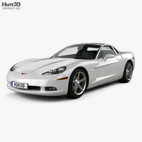 Chevrolet Corvette coupe with HQ interior 2011 3D model