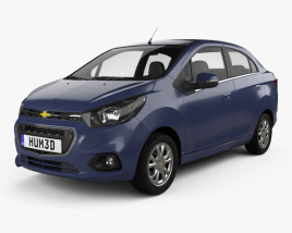 3D model of Chevrolet Beat sedan 2018