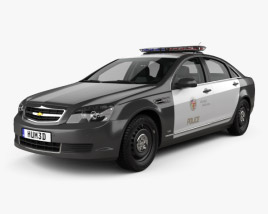 3D model of Chevrolet Caprice Police with HQ interior 2016