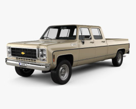 3D model of Chevrolet K30 Crew Cab 1979