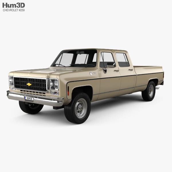 Chevrolet K30 Crew Cab 1979 3D model