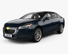 3D model of Chevrolet Malibu LT with HQ interior 2014