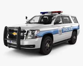 3D model of Chevrolet Tahoe Police with HQ interior 2016