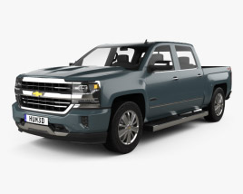 3D model of Chevrolet Silverado 1500 Crew Cab Short Box High Country 2018