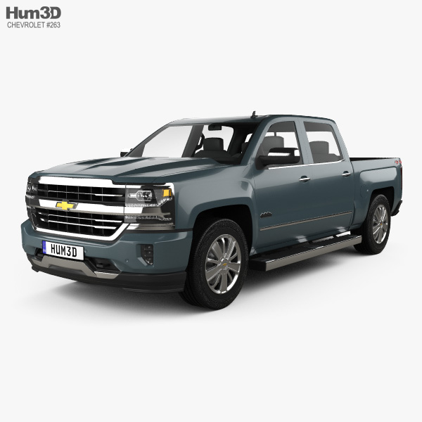 Chevrolet Silverado 1500 Crew Cab Short Box High Country 2018 3D model