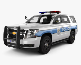 3D model of Chevrolet Tahoe Police 2016