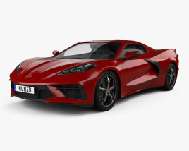 3D model of Chevrolet Corvette Stingray 2020
