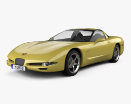 3D model of Chevrolet Corvette coupe 1997