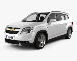 3D model of Chevrolet Orlando with HQ interior 2011