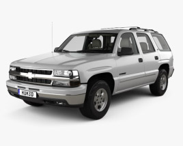 3D model of Chevrolet Tahoe LS with HQ interior 2002