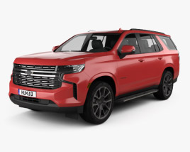 3D model of Chevrolet Tahoe RST 2020