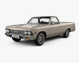 3D model of Chevrolet El Camino Custom 1966