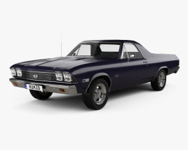 3D model of Chevrolet El Camino SS 396 1968