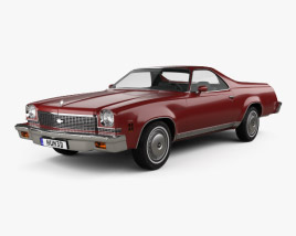 3D model of Chevrolet El Camino 1973