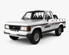 3D model of Chevrolet D-20 Single Cab 1992