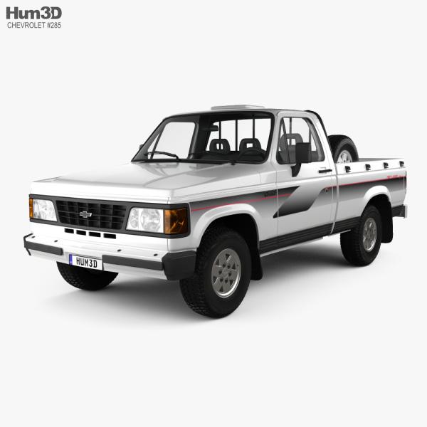 Chevrolet D-20 Single Cab 1992 3D model