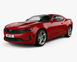 3D model of Chevrolet Camaro coupe LT1 2020