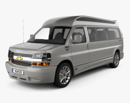 3D model of Chevrolet Express Explorer Limited SE LWB 2019