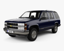 3D model of Chevrolet Tahoe LT 4-door 1995