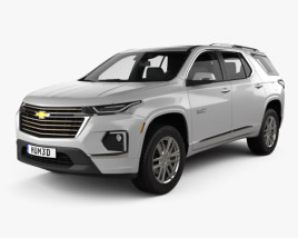 3D model of Chevrolet Traverse High Country 2020