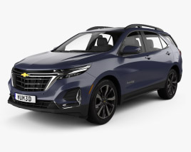3D model of Chevrolet Equinox Premier 2020