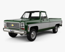 3D model of Chevrolet K10 Pickup 1974