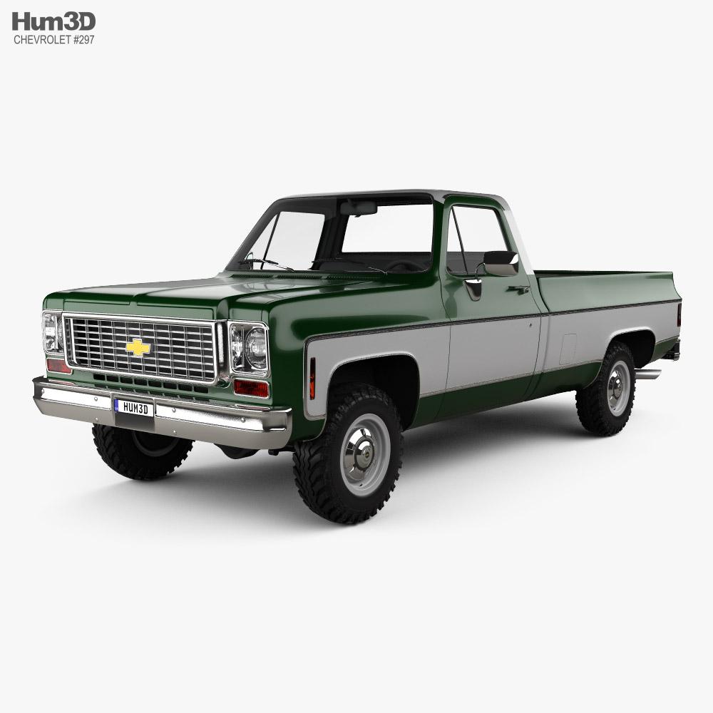 Chevrolet K10 Pickup 1974 3D model