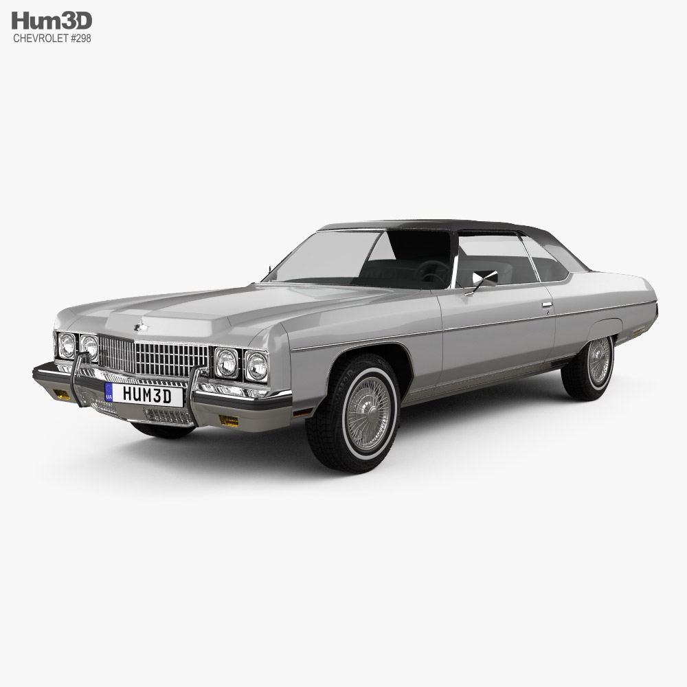 3D model of Chevrolet Caprice convertible 1973