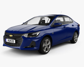 3D model of Chevrolet Onix Plus Premier sedan 2019