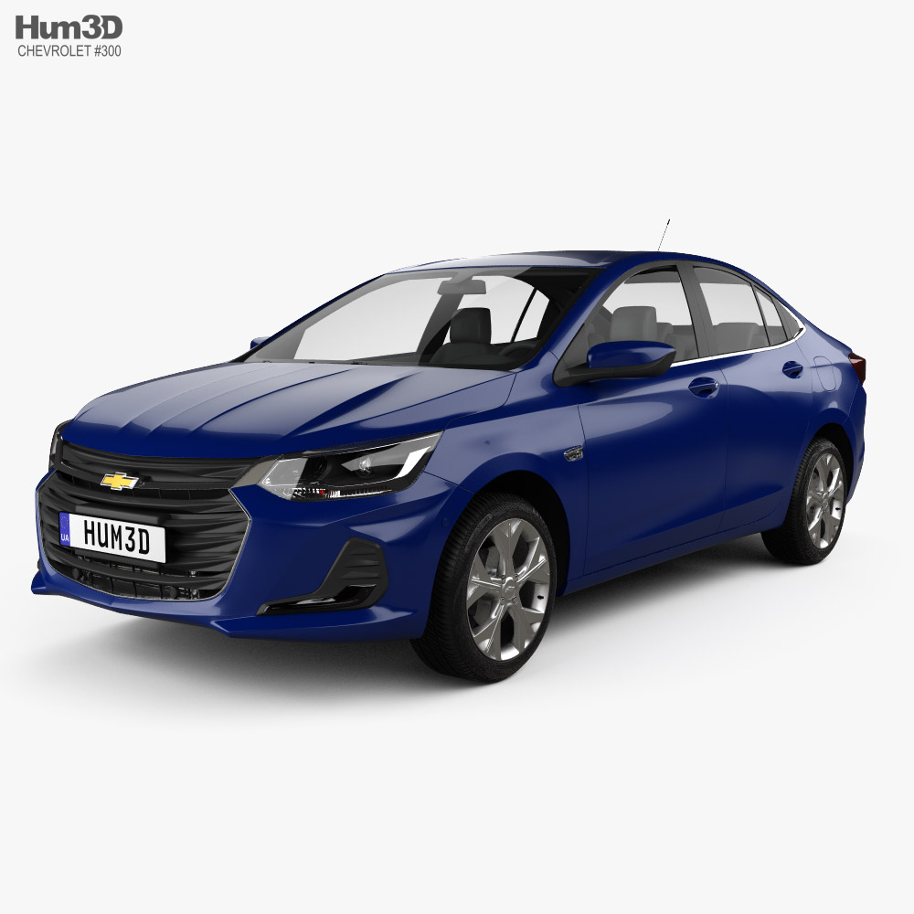 3D model of Chevrolet Onix Plus Premier sedan 2019