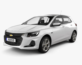 3D model of Chevrolet Onix Premier hatchback 2019