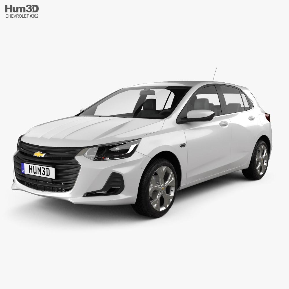 3D model of Chevrolet Onix Premier hatchback 2019