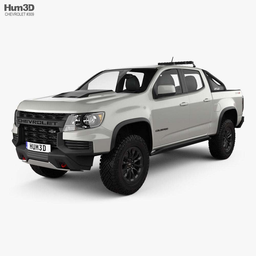 Chevrolet Colorado Double Cab ZR2 SEMA Truck 2021 3D model