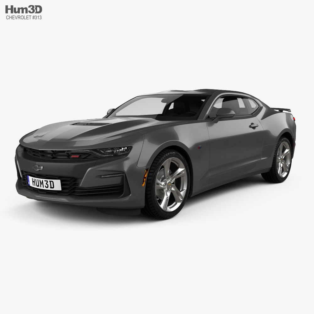 Chevrolet Camaro SS with HQ interior and engine 2020 3D model