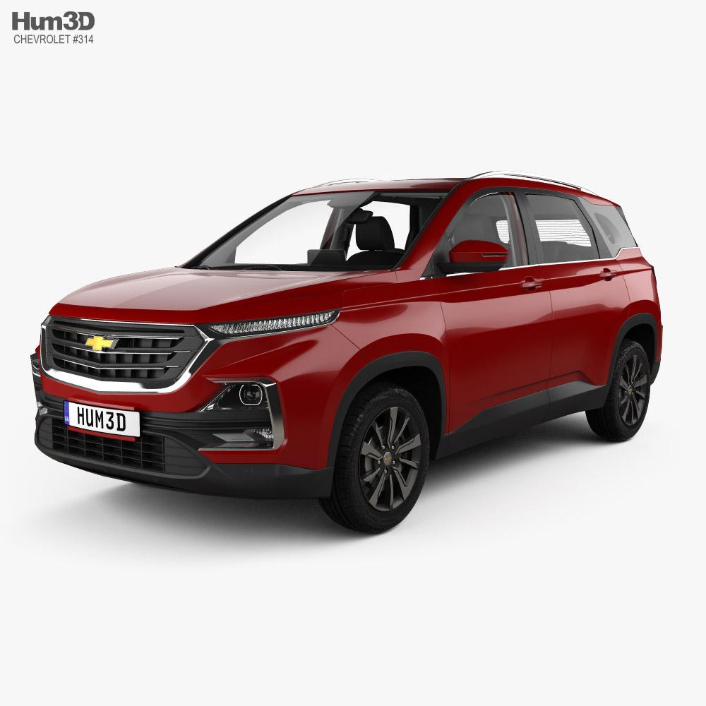 Chevrolet Captiva with HQ interior 2019 3D model
